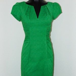 Vtg 1990s Green Dress by Adrianna Papell in sz 4